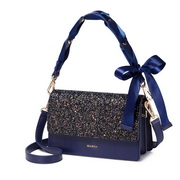 NUCELLE 2019 New Fashion Bowknot Handle Shoulder Bag Blue