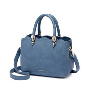 NUCELLE 2019 New Fashion Frosted Women Handbag Blue