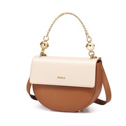 NUCELLE 2019 New Fashion Women Saddle Bag Brown