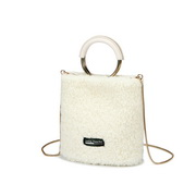 NUCELLE 2019 New Fashion Fluffy Bucket Bag White