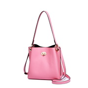 NUCELLE Leather 2019 New Simple Shoulder Bag Pink