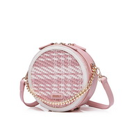 NUCELLE 2020 New Weave Element Round Bag Pink