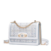 NUCELLE 2020 New Fashion Women Woolen Shoulder Bag White