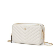 NUCELLE 2020 New Fashion V Line Embroidery Shoulder Women Bag White