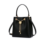NUCELLE 2020 New Fashion Baroque Casual Women Bucket Bag Black