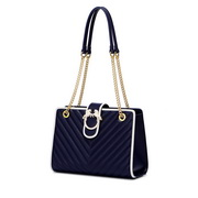NUCELLE 2020New Fashion Heaven Horse Contrast color Women Tote Bag Blue