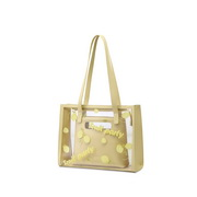 NUCELLE 2021 New Fashion Big Capacity Women Jelly Bag Yellow
