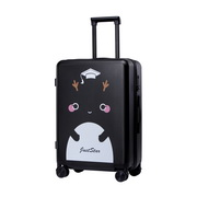JUST STAR 2017 New Cartoon Girls Luggage Black 24inch
