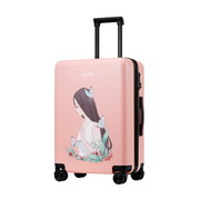 JUST STAR 2017 New Student Girls Luggage Pink 24inch
