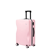 JUST STAR 2019 New Streamline Cutting Shape 20inch Luggage Pink