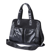 Wholesale fashon handbag PU leather lady tote bag Black