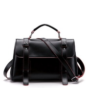 PU women messenger bag Black