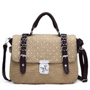 PU  women messenger bag Khaki