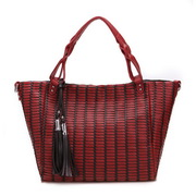 Happy weaving hobos bag  Red