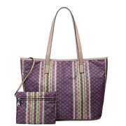 Stripe designer handbag Purple