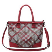 Fashion weave dual-use bag Red