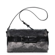 Rabbit hair Messenger bag Grey