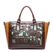 silhouette women handbag Coffee