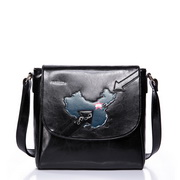 Cartoon series messenger bag Black