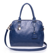 PU leather tote bag Blue