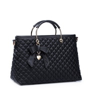 Korean style sheepskin handbag Black