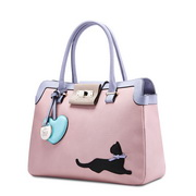 JUST STAR retro cat totes Pink