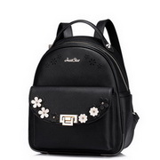 JUST STAR PU Leather 2016 Spring Lovely Backpack Black