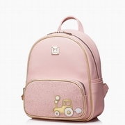 JUST STAR PU Leather 2016 Hot Selling Backpack Pink