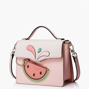 JUST STAR PU 2016 Cute Fruit Collage Messager Bag Pink