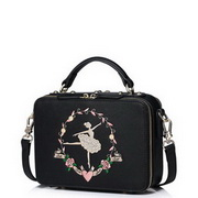 JUST STAR PU Leather 2016 Newest Ballet Girl Shoulder Bag Black