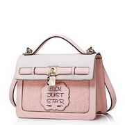JUST STAR PU Leather Lovely Girl Casual Style Messenger Bag Pink