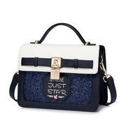 JUST STAR PU 2018 Lovely Girl Upgraded Messenger Bag S Blue