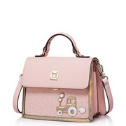 JUST STAR PU Leather 2016 Latest Style Shoulder Bag Pink
