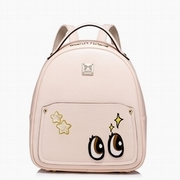 JUST STAR PU Leather 2016 New Lovely Cartoon Traveling Backpack Pink