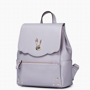 JUST STAR PU Leather New Model Lovely Rabbit Decoration Backpack Purple