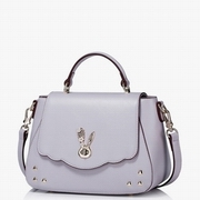 JUST STAR PU Leather New Model Lovely Rabbit Decoration Shoulder Bag Purple