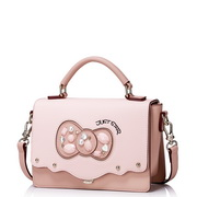 JUST STAR PU Leather 2016 New Sweet Girl Style Shoulder Bag Pink