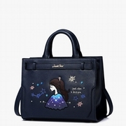 JUST STAR PU Leather 2016 New Autumn Dream Gril Shoulder Bag Blue