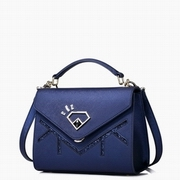 JUST STAR PU Leather 2016 New Special Shining Diamond Cube Bag Blue