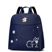 JUST STAR PU Leather 2017 Lovely Rabbit Snow Series Backpack Blue