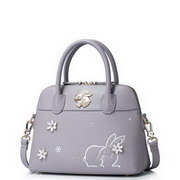 JUST STAR PU Leather 2017 Lovely Rabbit Snow Series Shell Bag Purple