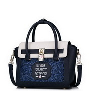 JUST STAR PU 2017 New Lovely Girl Casual Style Handbag Blue