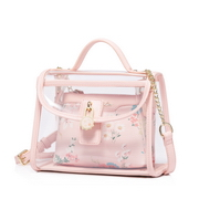 JUST STAR PU 2018 Specail Design Jelly Transparent Bag Pink