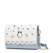 JUST STAR PU Leather 2017 Hot Selling Sweet Hollow Evening Bag Blue