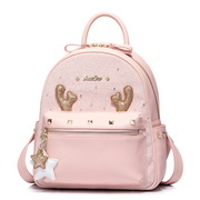 JUST STAR 2018 New Series Shining Backpack Pink
