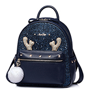 JUST STAR 2017 New Autumn&Winter Series Shining Backpack Blue