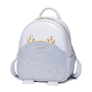 JUST STAR PU 2018 New Happy Deer Series School Backpack Blue