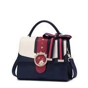 JUST STAR PU 2017 Popular College Style Shoulder Bag Blue