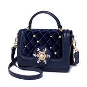 JUST STAR 2017 New Winter Style Velvet Shoulder Bag Blue