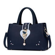 JUST STAR PU 2017 New Winter Fashion Saddle Bag Handbag Blue